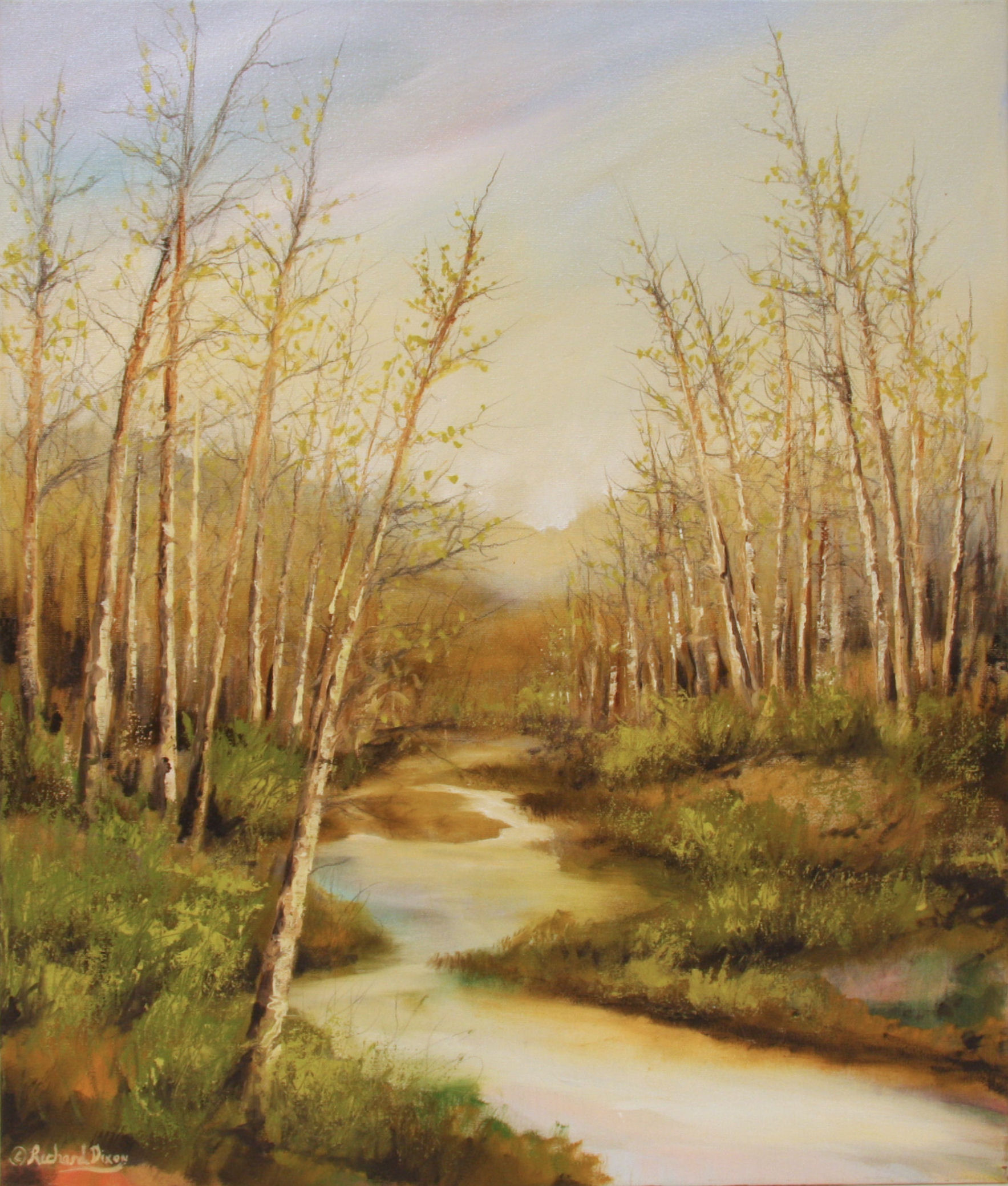 Mill Creek Early Spring oil painting by Richard Dixon